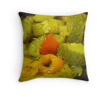 Sauteed Fresh Veggies And Spices Throw Pillow
