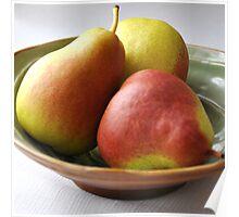 Pears Portrait Poster