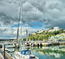 Yacht at Torquay Harbour by Catherine Hamilton-Veal  ©