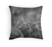 Old farm yoke Throw Pillow
