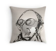 Self With a Big Nose and Tiny Eyes Throw Pillow