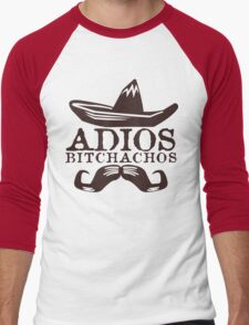 Adios Bitchachos Funny Geek Nerd Men's Baseball ¾ T-Shirt