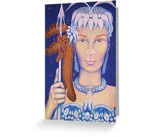Spear Maid Greeting Card