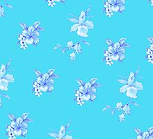 Hawaiian Sea Tropical flower floral print by integralapparel