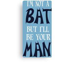 Bat Funny Geek Nerd Canvas Print