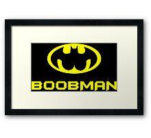 Boobman Funny Geek Nerd Framed Print