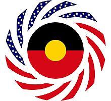 Australian Aboriginal American Multinational Patriot Flag Series Photographic Print