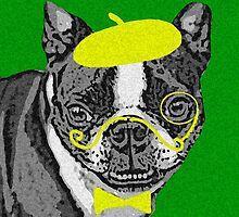 { boston terrier - buddha series: monacle dog } by smooshfaceutd
