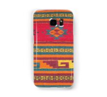 Colorful red Aztec Pattern Samsung Galaxy Case/Skin
