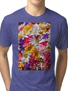 Be like the flower, turn your face to the sun. Tri-blend T-Shirt