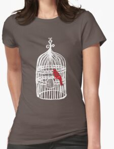cage? Womens Fitted T-Shirt