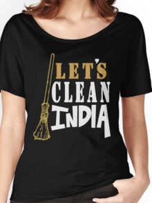 Clean India Funny Geek Nerd Women's Relaxed Fit T-Shirt