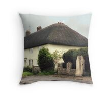 Thatched Cottage at Avebury Throw Pillow