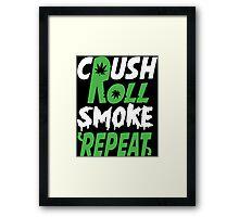 Crush Rol Funny Geek Nerd Framed Print