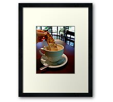 To Dunk or Not to Dunk? Framed Print