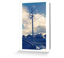 a day and a life of a telephone pole Greeting Card