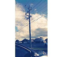 a day and a life of a telephone pole Photographic Print