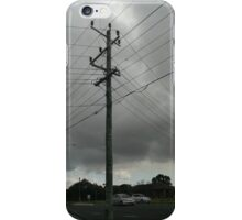 a day and a life of a telephone pole cloudy-style iPhone Case/Skin