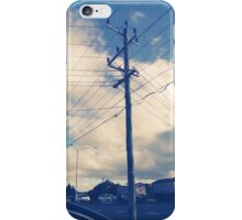 a day and a life of a telephone pole iPhone Case/Skin