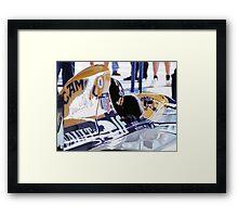 Damon Hill, Portugal Framed Print