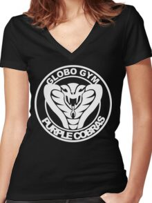 Globo Gym Funny Geek Nerd Women's Fitted V-Neck T-Shirt