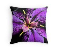 """""""Purple Iris"""" Throw Pillow"""