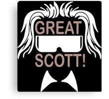 Great Scott Funny Geek Nerd Canvas Print