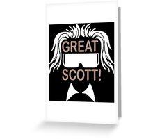 Great Scott Funny Geek Nerd Greeting Card