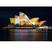 Opera House Vivid Festival Photographic Print
