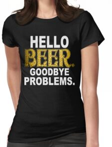 Hello Beer Funny Geek Nerd Womens Fitted T-Shirt