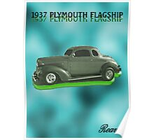 1937  PLYMOUTH  FLAGSHIP Poster