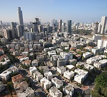 Elevated aerial  view of Tel Aviv and Ramat Gan  by PhotoStock-Isra