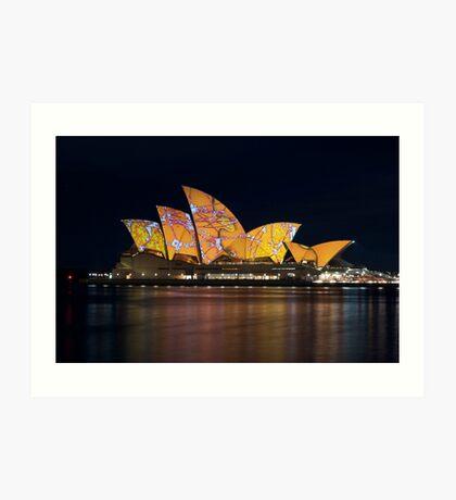 Opera House Vivid Festival Art Print
