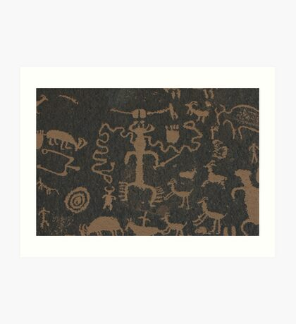 Pictographs Art Print