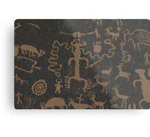Pictographs Metal Print