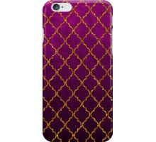 Chic pink gold faux glitter quatrefoil pattern iPhone Case/Skin