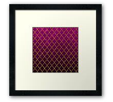 Chic pink gold faux glitter quatrefoil pattern Framed Print