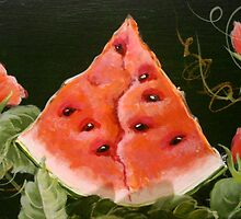Slice of Watermelon by Cathy Amendola