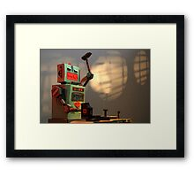 The robots worked. Robots are tired. Framed Print