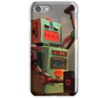 The robots worked. Robots are tired. iPhone Case/Skin