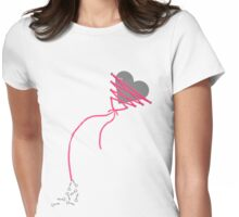 My Heart is Tied Womens Fitted T-Shirt