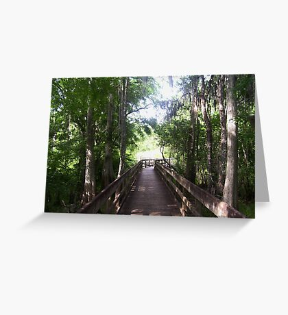 Walkway to the Light Greeting Card