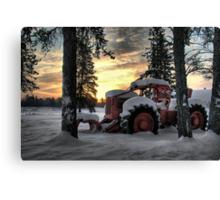 Skidder Sunrise Canvas Print