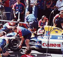 Pit Lane Action, Portugal 1992 by Matthew Walters