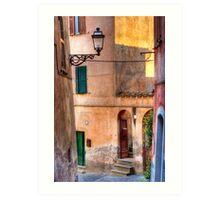 Italian alley Art Print
