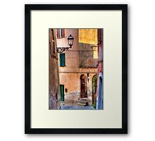 Italian alley Framed Print