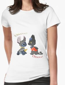 Toothless and Stitch Womens Fitted T-Shirt