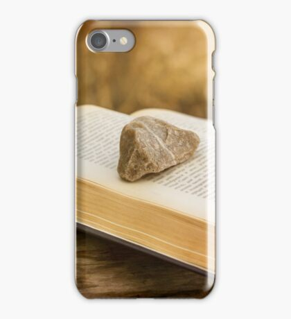 Stone on a Book iPhone Case/Skin