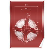 Team Fortress Logo Blueprint RED Poster