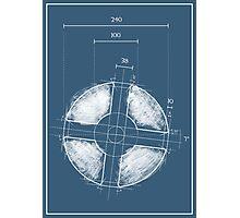 Team Fortress Logo Blueprint BLU Photographic Print